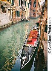 Venezia - Gondola on the canal in Venice, Italy