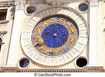 venezianisch, astrologisch, uhr