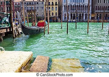 venezianisch, gondel, kanal, großartig