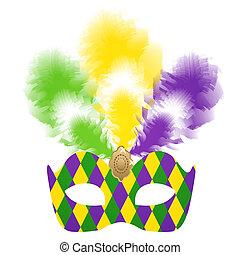 veneziano, colorfu, máscara, carnaval
