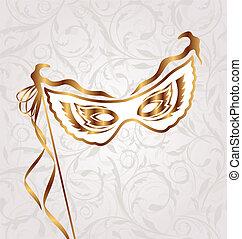 veneziano, máscara teatro, ou, carnaval