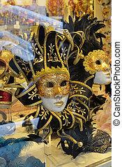 veneziano, máscaras, loja