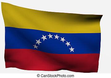 Venezuela 3d flag isolated on white