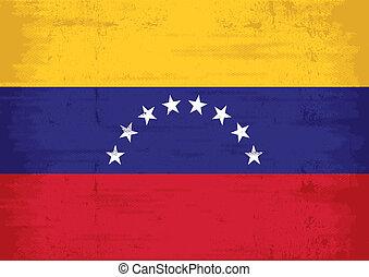 Venezuela, bandeira,  grunge