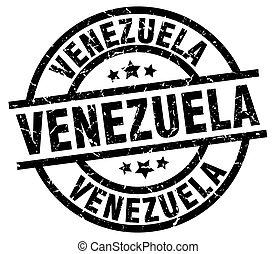 Venezuela black round grunge stamp