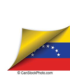 Venezuela Country Flag Turning Page
