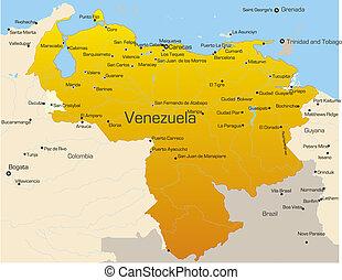 Venezuela country - Abstract vector color map of Venezuela...