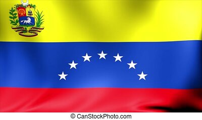 Venezuela Flag. Background Seamless Looping Animation.