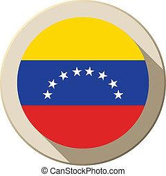 Venezuela Flag Button Icon Modern