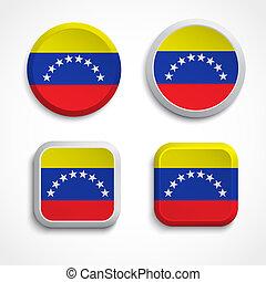 Venezuela flag buttons