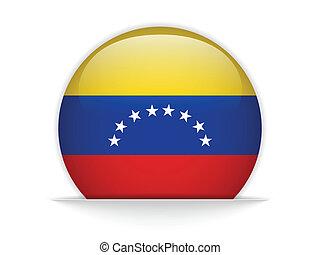 Venezuela Flag Glossy Button