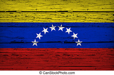 Venezuela Flag Grunge Background
