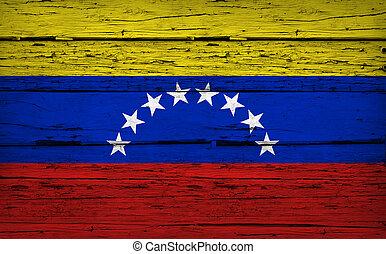 Venezuela Flag Grunge Background