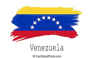 Venezuela flag on white background