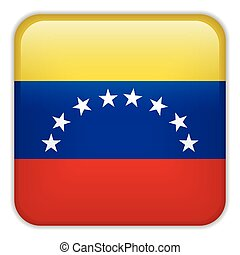 Venezuela Flag Smartphone Application Square Buttons