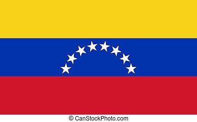Venezuela Flag  - Vector Illustration