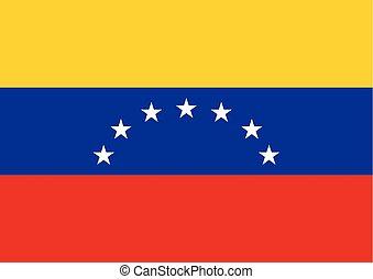Venezuela flag vector illustration