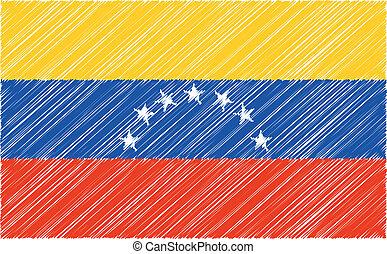 Venezuela, flag, vector illustration