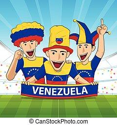 venezuela football support - venezuela Flag. Cheer football...