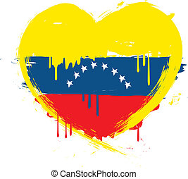 venezuela, grunge, flag