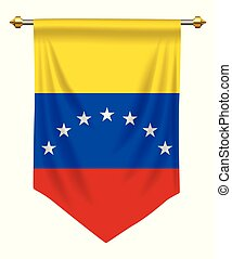 Venezuela Pennant - Venezuela flag or pennant isolated on...
