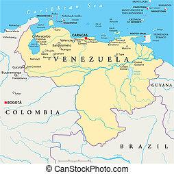 Venezuela Political Map