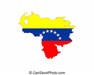 venezuela vlag, kaart