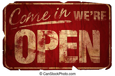 venga, viejo, abierto, we're