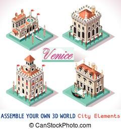 Venice 02 Tiles Isometric - Venice Palace Tiles for Online...