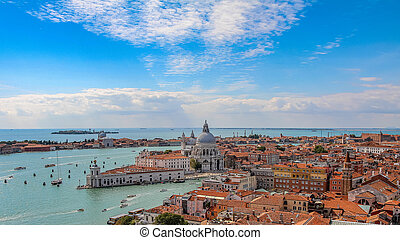 Venice aerial cityscape view from San Marco Campanile