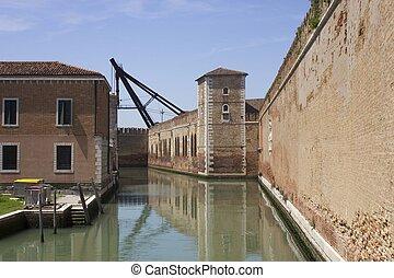 Venice, Arsenal walls - Venice,  historic Arsenal walls