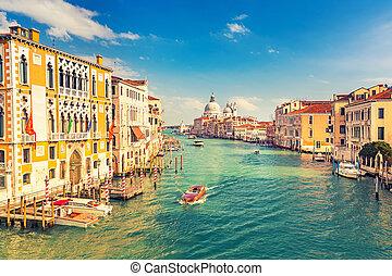 Venice at sunny evening