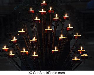 Venice - Basilica of San Giorgio Maggiore, a votive candle ...