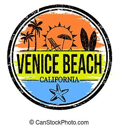 Venice Beach sign or stamp