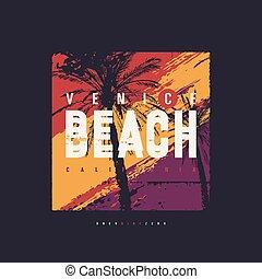 Venice beach vector graphic t-shirt design, poster, print.