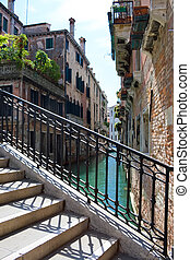 Venice canal - A typical venetian canal in summer, Venice