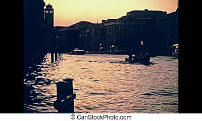 Venice canal buildings - Venetian buildings on the side of...