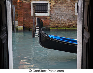 Venice canal view from indoor