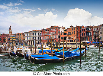 Venice Canal - View of famous Grand Canal, Venice