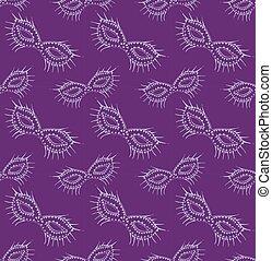 venice carnival mask seamless pattern.