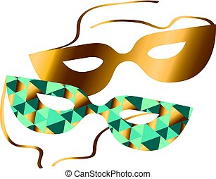 Venice carnival mask vector illustration. concept abstract geometry pattern. mask silhouette icon.