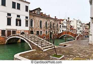 Venice Castello bridges
