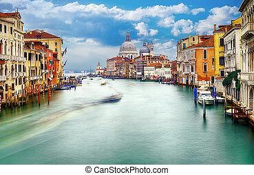 Venice city - Grand Canal and Basilica Santa Maria della...