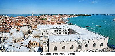 Venice cityscape - view from Campanile di San Marco. Italy -...