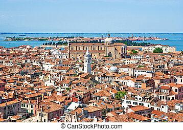 Venice cityscape - view from Campanile di San Marco. Italy