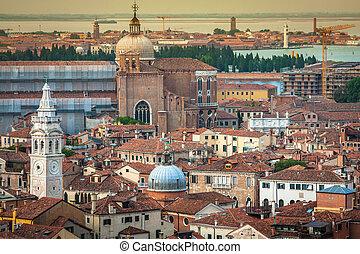Venice cityscape - view from Campanile di San Marco. UNESCO Worl