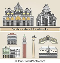 Venice colored Landmarks