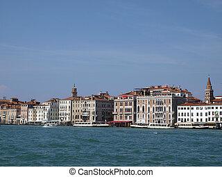 Venice - Exquisite antique buildings along San Marco Canal
