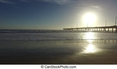 Venice Fishing Pier, Marina del Rey, California during...