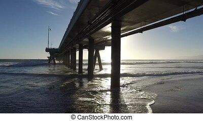 Venice Fishing Pier, Marina del Rey, California during...
